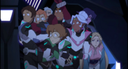 Team Voltron in Pirate Ship