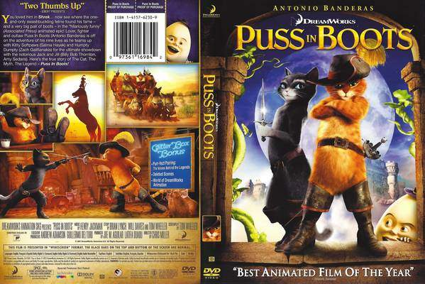 Puss In Boots Film Home Video Dreamworks Animation