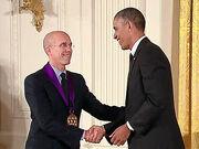 Jeffrey Katzenberg, Barack Obama, National Medal of Arts-5 (crop)