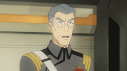 Commander Sablan speaks to Admiral Sanda