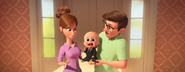 Boss Baby crying in Ted's arms