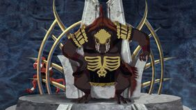 Lord Darkan sits on his throne