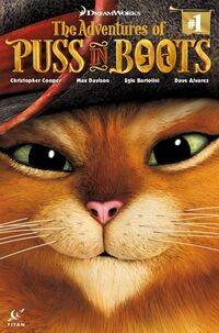Puss in Boots comic book cover