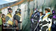 Lance, Kolivan and Hunk with some aliens
