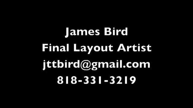 JAMES BIRD SHOWREEL