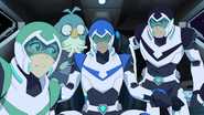 Shiro, Pidge, Lance and Slav