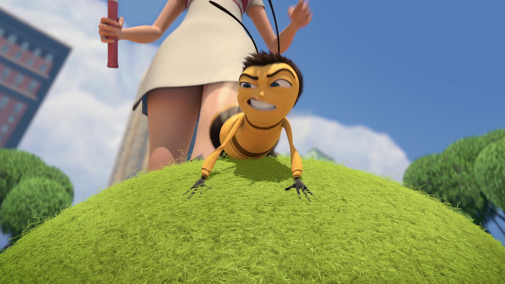 Girl from bee movie fucked, guy rubbing penis head on clit gif