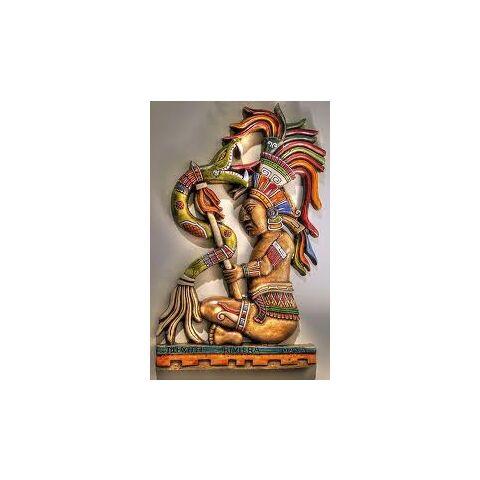 Kukulkan-color stone carving