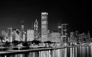 Chicago B+W night