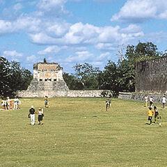 Inside the Ball Court at Chichén Itzá