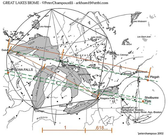 Image Great Lakes Ley Line Mapjpg Dresden Files FANDOM - Us ley lines map