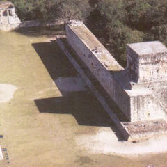 The Great Ball Court at Chichén Itzá—Arial view