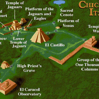 Map of Chichén Itzá