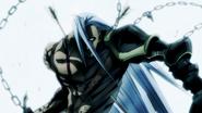 Gilles taking on Yoichi's arrows
