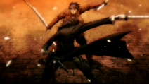 Hijikata spaltet Toyohisas Katana