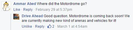 Drive Ahead! Motordrome Update