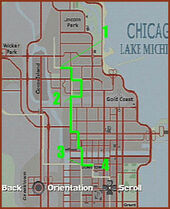 Mapa Chicago Driver 2 Mision 3