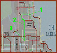 Mapa Chicago Driver 2 Mision 2