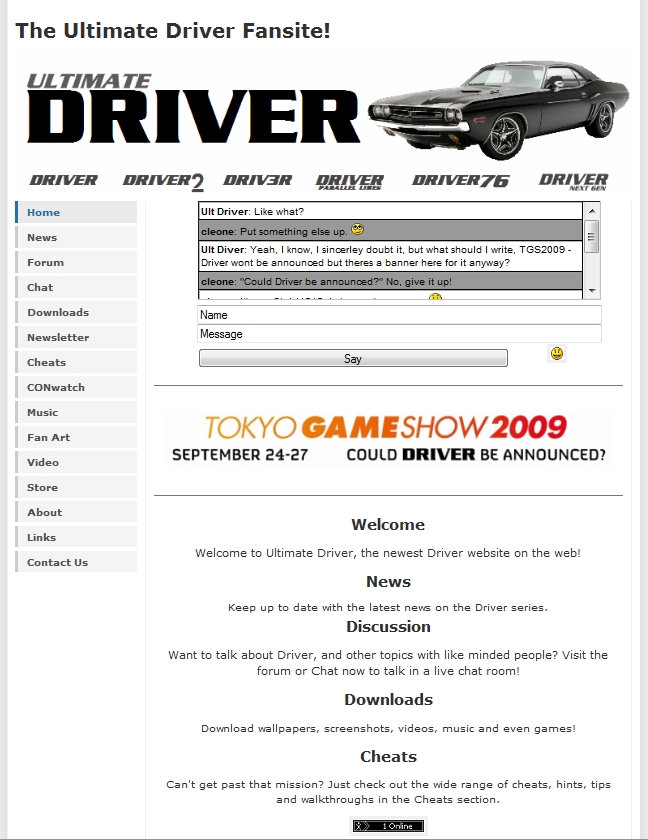 Ultimate Driver Home Screen