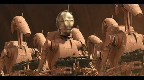 C3-PO Battle droid scenes