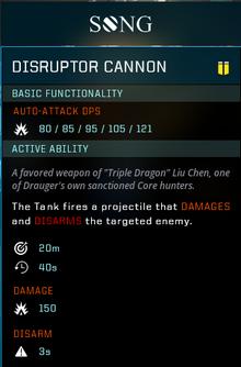 Disruptor cannon gear