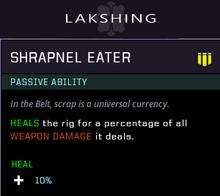 Shrapnel eater gear