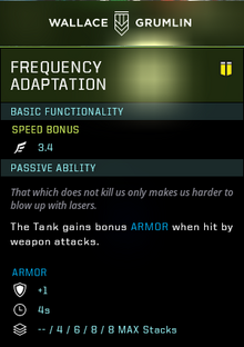 Frequency adaptation gear