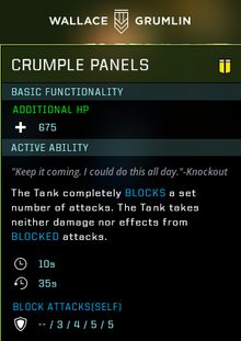 Crumple panels gear