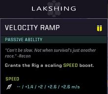 Velocity Ramp gear