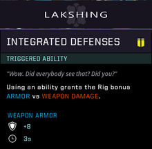 Integrated defenses gear