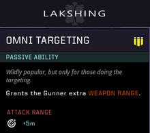 Omni targetting gear