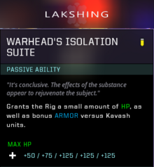 Isolation suite warhead