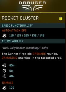 Rocket cluster gear