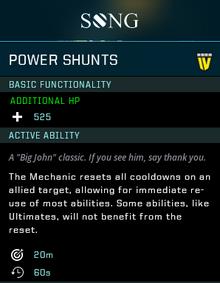Power shunts gear