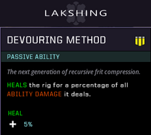 Devouring method gear