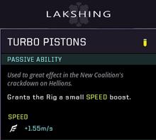 Turbo pistons gear