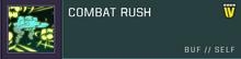 Combat rush title card