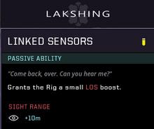 Linked sensors gear card
