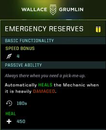 Emergency reserves gear