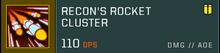 Rocket cluster title