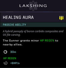 Healing aura gear card