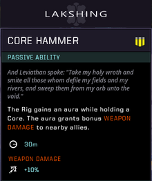 Core hammer gear card