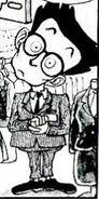 Employee with crooked neck manga