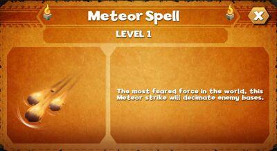 Meteor spell
