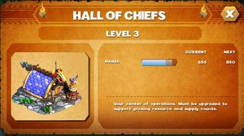 Hall of chief