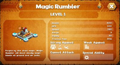 Magic rumbler