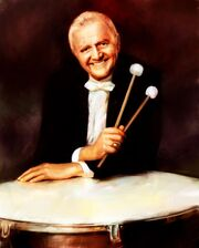 Vic Firth on a drum