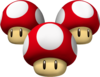 Triple Mushrooms - Mario Kart Wii