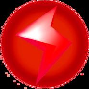 Red Lightning Bolt - Mario Kart Wii