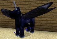 Dark blue fairy horse